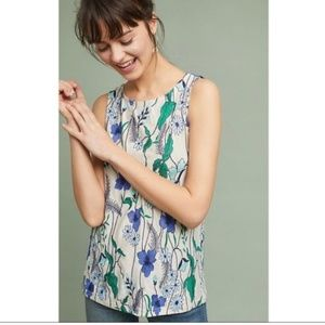 Anthro Meadow Rue Cartagena Embroidered Tank Top